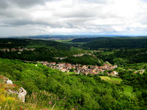 Saint-Romano (Borgonha, França) Foto de Stock