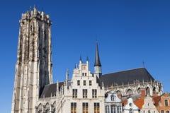 Saint Rumbold Cathedral. In Mechelen, Belgium Stock Photography