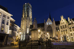 Saint Rumbold's Cathedral in Mechelen in Belgium Royalty Free Stock Photos