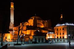 Saint Sófia na noite imagens de stock royalty free