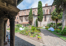 Saint Salvi Cloister in Albi, France. ALBI, FRANCE - JUNE 06 2015: Saint Salvi Cloister in Albi, Tarn region, Midi Pyrenees, France Royalty Free Stock Images
