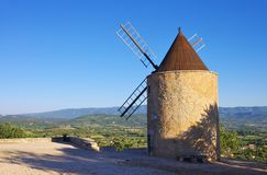 Saint-Saturnin-les-Apt mill Stock Images