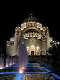 Saint Sava cathedral. Christian cathedral Saint Sava in Belgrade at night stock photo