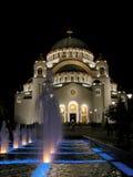 Saint Sava cathedral. Christian cathedral Saint Sava in Belgrade at night Stock Photo