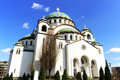 Saint Sava Cathedral, Belgrade, Serbia. The Cathedral of Saint Sava in Belgrade is dedicated to saint Sava, who was a Serbian prince and a orthodox monk, it was Stock Image