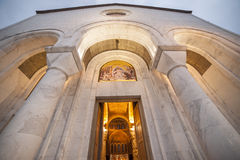 Saint Sava cathedral entrance Royalty Free Stock Photography