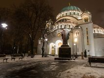 Saint sava front view Stock Image