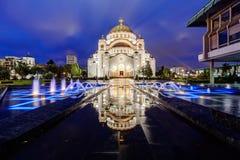 Saint Sava Temple Images libres de droits