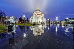 Saint Sava Temple Imagem de Stock Royalty Free
