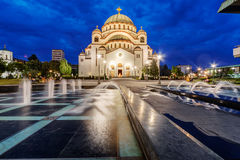 Saint Sava Temple Royalty Free Stock Photo
