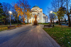 Saint Sava Temple Royalty Free Stock Images