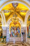 Saint Sava Temple Golden Chandelier In Belgrade Serbia Stock Photography