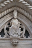 Saint scultpure, religious architecture art Stock Images
