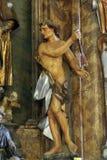 Saint Sebastian. Statue on church altar Royalty Free Stock Images