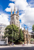 Saint Sepulchre-Without-Newgate Church. Photography of Saint Sepulchre-Without-Newgate Church, Holborn street, London, UK Stock Image