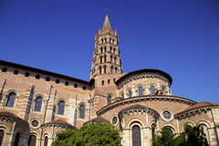 Saint Sernin cathedral in Toulouse, France. Medieval Saint Sernin cathedral & x28;12th century& x29; in Toulouse & x28;France& x29 Royalty Free Stock Images