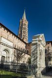 Saint-Sernin church, Toulouse Stock Photography