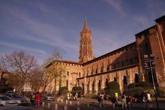 Saint-Sernin de Basilique em Toulouse, França Foto de Stock Royalty Free