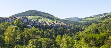 Saint-Sernin-sur-Rance. (Aveyron, Midi-Pyrenees, France) - View of the city Stock Images