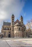 Saint Servatius church at the Vrijthof in Maastricht. Holland Stock Photo