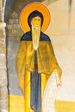 Saint Simeon in the mural painting in the Temple in Monastery Rezevici in Montenegro Stock Images