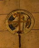 Saint Simon medal at Basilique du Sacré Cœur stock photography