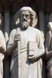 Saint Simon, Notre Dame Cathedral, Paris Stock Photo