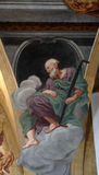 Saint Simon the Zealot. Fresco painting in the St Nicholas Cathedral in Ljubljana, Slovenia Royalty Free Stock Images