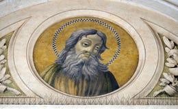 Saint Simon the Zealot. Apostle, mosaic in the basilica of Saint Paul Outside the Walls, Rome, Italy Royalty Free Stock Photo
