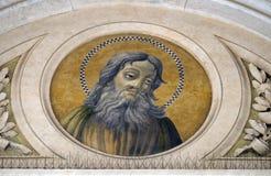 Saint Simon the Zealot. Apostle, mosaic in the basilica of Saint Paul Outside the Walls, Rome, Italy Stock Images