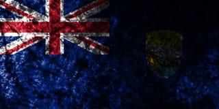 Saint Helena grunge flag on old dirty wall, British Overseas Territories, Britain dependent territory flag. Saint a smoke flag, British Overseas Territories stock illustration