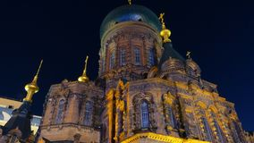 Saint Sofia church. The largest Russian Orthodox Church in Far East Asia stock photography