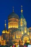 Saint sofia church night of harbin Stock Photo