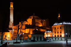 Saint Sofia at night. Night Shot of Saint Sofia Church in Istanbul Royalty Free Stock Images