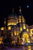 Saint Sofia Russian at night, Harbin, China stock photography