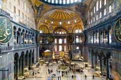 Ayasofya Camii - Saint Sophia - Hagiasophia. Interior of Saint Sophia - Ayasofya Ic Mekan Royalty Free Stock Image