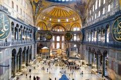 Ayasofya Camii - Saint Sophia - Hagiasophia. Interior of Saint Sophia - Ayasofya Ic Mekan Stock Image
