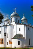 Saint Sophia cathedral, Great Novgorod,Close up in a sunny day Royalty Free Stock Photo
