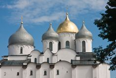Saint Sophia cathedral  of Great Novgorod Russia Royalty Free Stock Photos