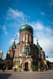 Saint Sophia Cathedral in Harbin. Sophia church square, Harbin, China, sacred religion stock photography
