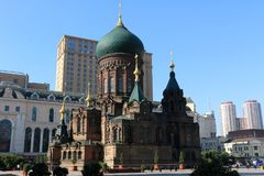 Saint Sophia Cathedral in Harbin royalty free stock photography