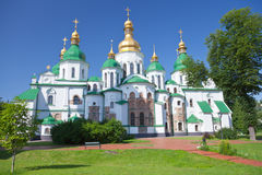 Saint Sophia Cathedral in Kiev. Ukraine in summer day royalty free stock images