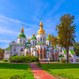 Saint Sophia Cathedral in Kiev. Ukraine. Saint Sophia Cathedral at autumn. Is oldest Cathedral and Church in Kiev. Ukraine royalty free stock image