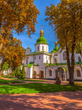 Saint Sophia Cathedral in Kiev. Ukraine. Saint Sophia Cathedral at autumn. Is oldest Cathedral and Church in Kiev. Ukraine royalty free stock photos