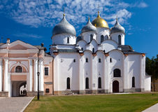 Saint Sophia cathedral in Kremlin, Great Novgorod, Russia.Close up in a sunny day Stock Images