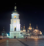 Saint Sophia cathedral. Kyiv, Ukraine. Saint Sophia cathedral at night. Kyiv, Ukraine Stock Photo