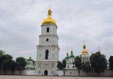 Saint Sophia Cathedral in Kyiv, Ukraine. The bell tower of Saint Sophia Cathedral in Kyiv, Ukraine Royalty Free Stock Photos