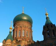 Saint-Sophia Cathedral. Located in the city of Harbin, Heilongjiang Province, north-east of China Stock Photography