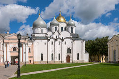 Saint Sophia Cathedral at Novgorod Kremlin Stock Image