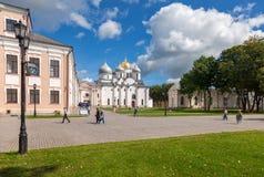 Saint Sophia Cathedral at Novgorod Kremlin Royalty Free Stock Photos